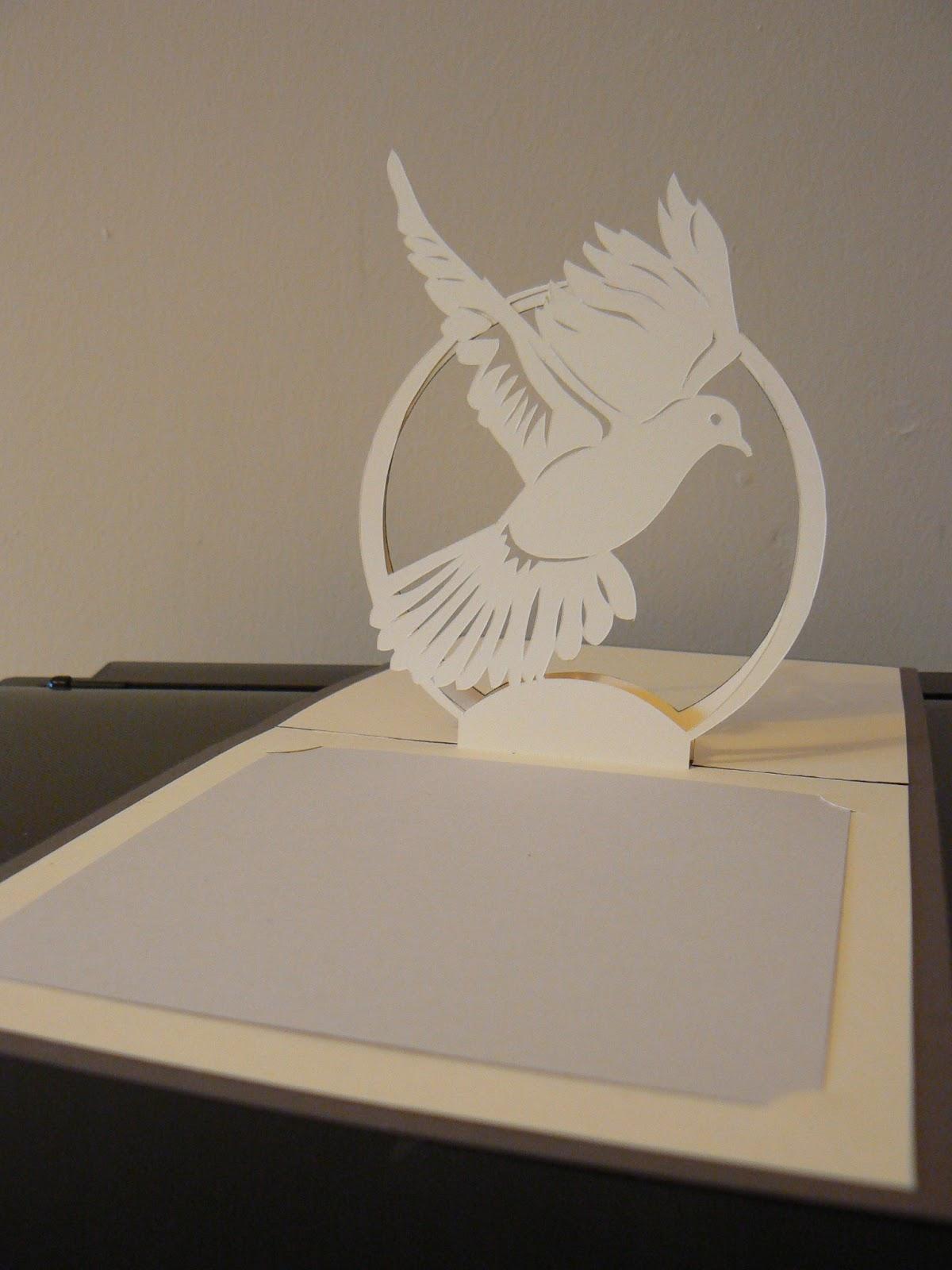 faire part de mariage une colombe en kirigami - Faire Part Mariage Kirigami