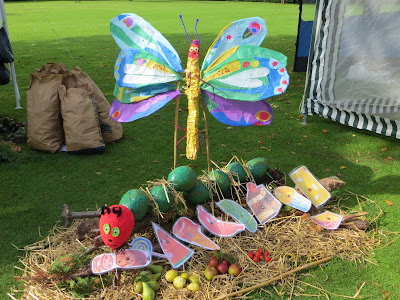'The Very Hungry Caterpillar' Scarecrow Competition, Barrowby Village 2015