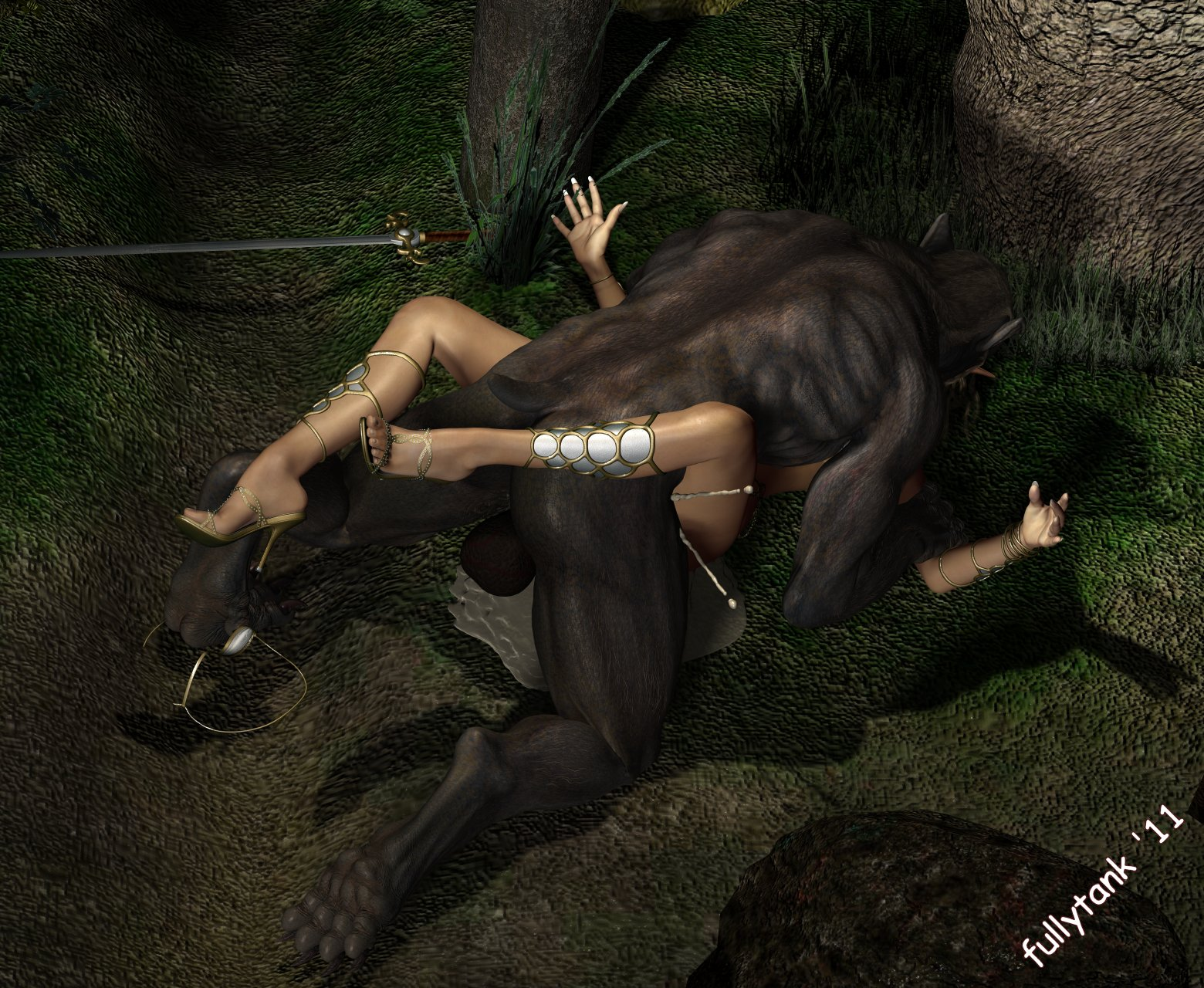 Anime girl fucked by werewolf anime photo