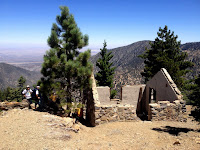 View northeast from Mount Islip (8250'), Crystal Lake, Angeles National Forest