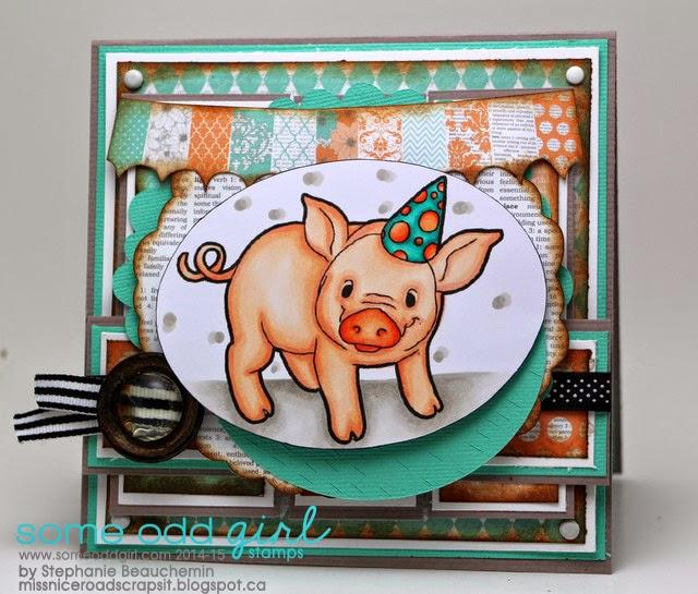 28 juillet -Cartes de la semaine sur mon blogue Stephanie_Party+Pig