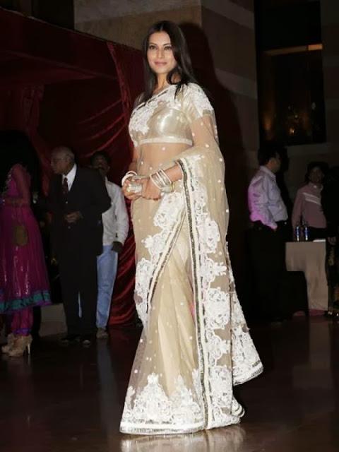 Aishwarya Rai in her Net Sari Pics