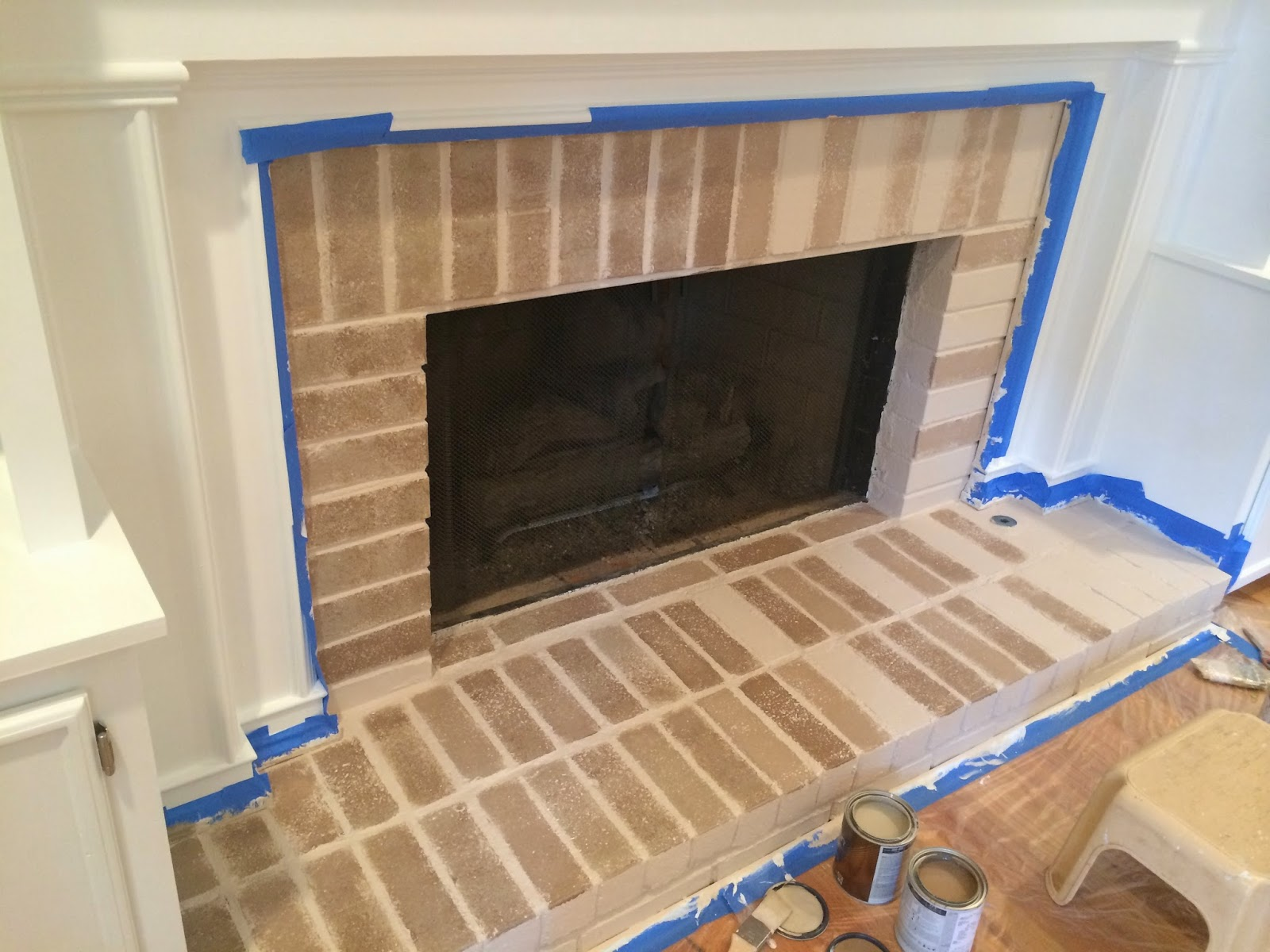 how to get paint off brick fireplace