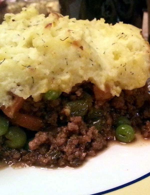 Shepherd's Pie - An Amazing Combination of Ground Lamb, Mashed Potatoes and Chopped Vegetables.