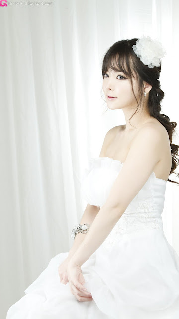 4 Im Ji Hye in Wedding Dress - very cute asian girl - girlcute4u.blogspot.com