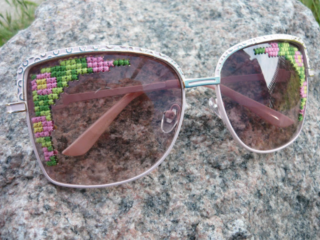 Embroidered Sunglasses DIY