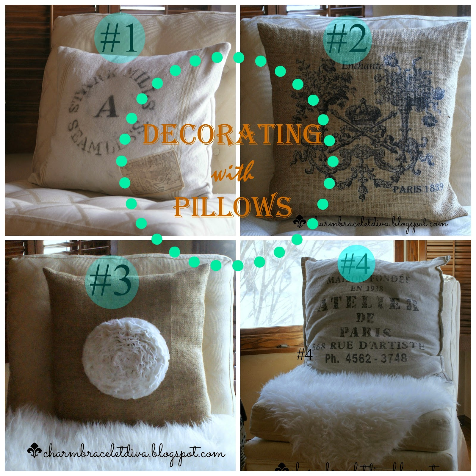 Four pillow collage