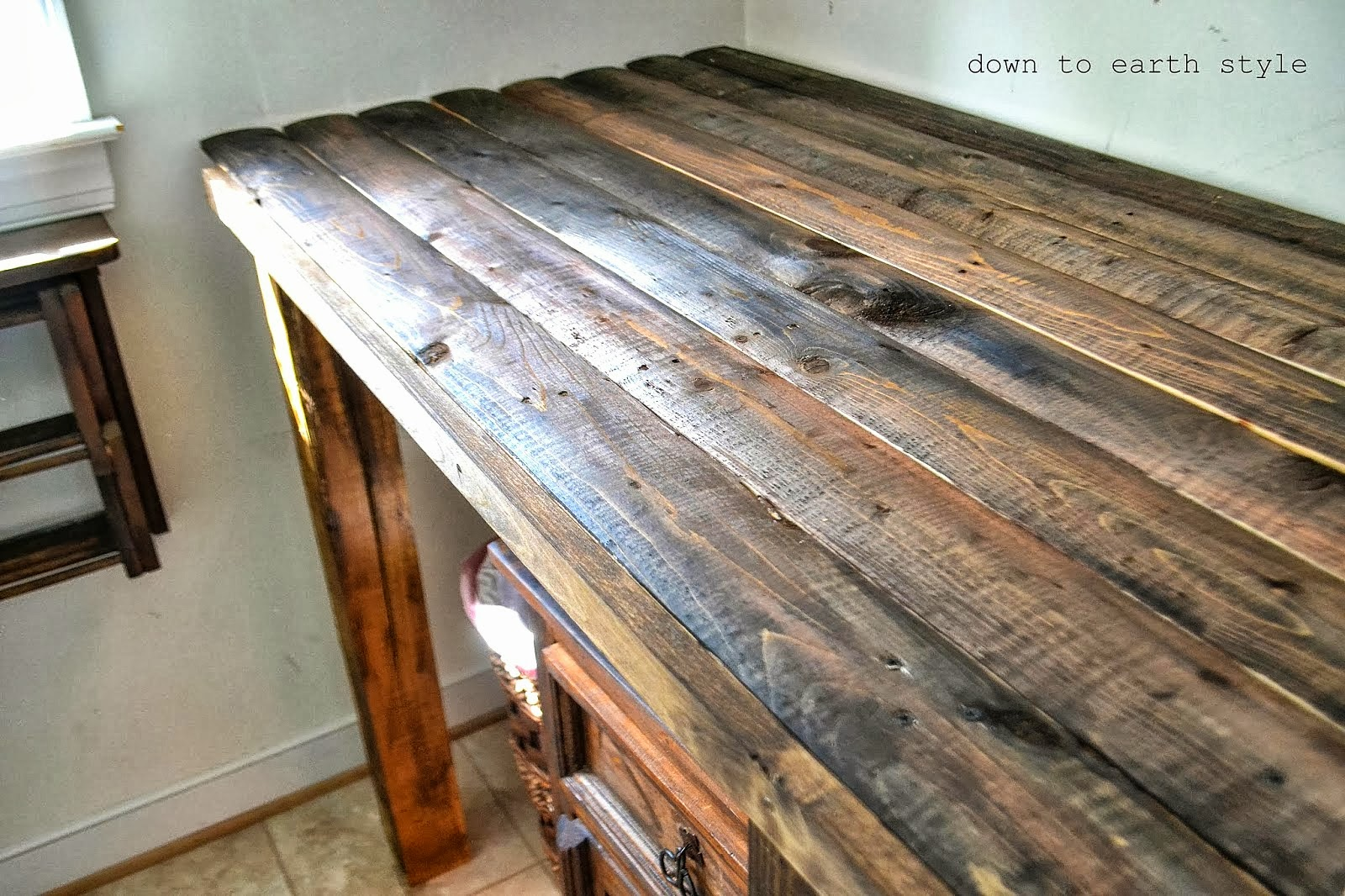 I Love That Junk: Reclaimed wood laundry room folding table - Down