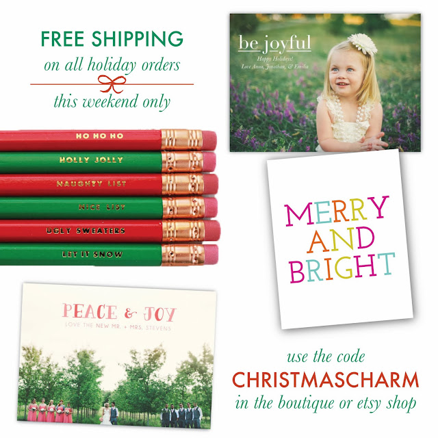 free shipping this weekend! charm & gumption holiday