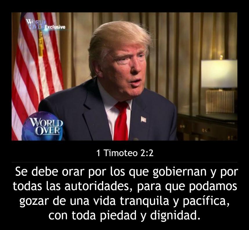 Jesucristo te pedimos que guíes y protejas a Donald Trump para que gobierne de acuerdo a tu Ley