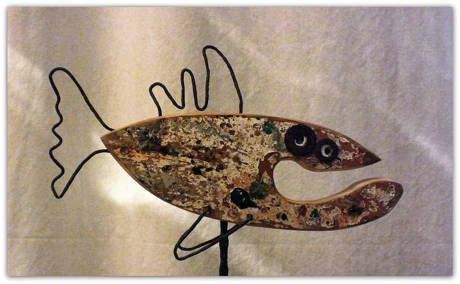 O\'Fishl, poisson en bois flotté et métal, réversible !