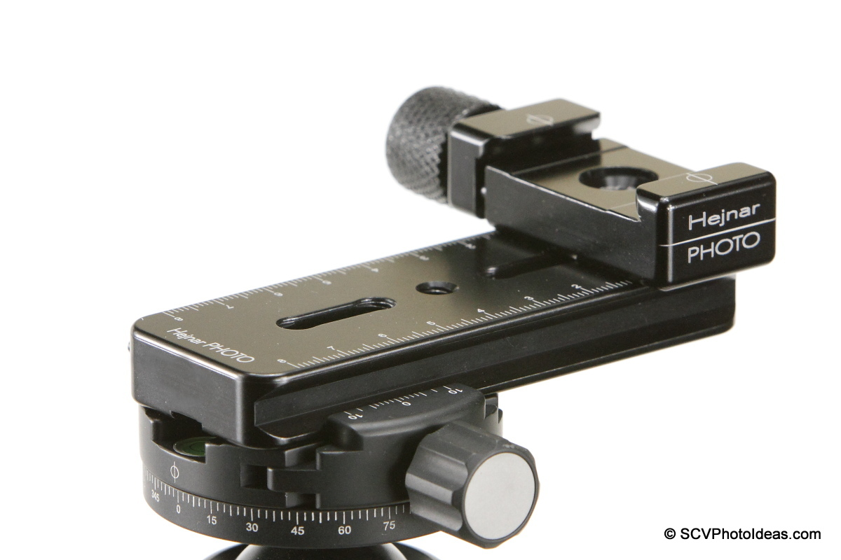 Mini MR Pano Nodal rail on Sunwayfoto DDH-03