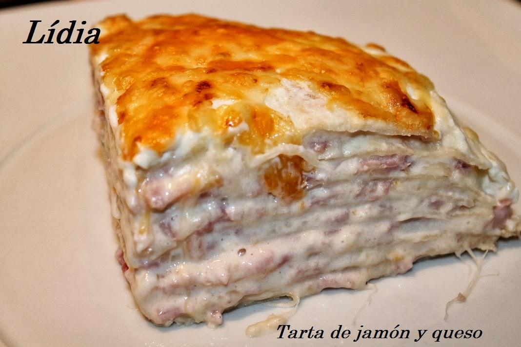 Les punyetetes de la li tarta de jam n y queso for Que cenar rico