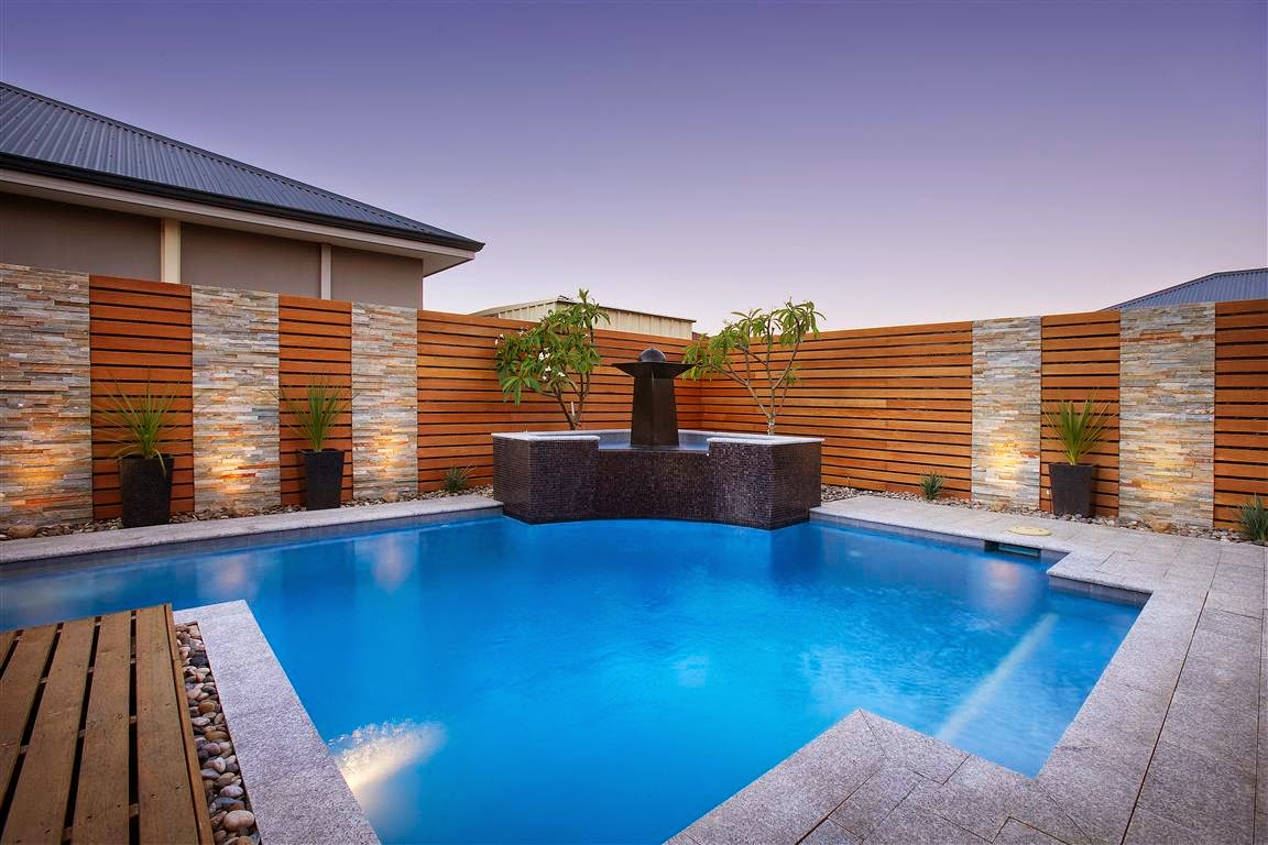 Simple pool house design from the point of view of the for Pool exterior design