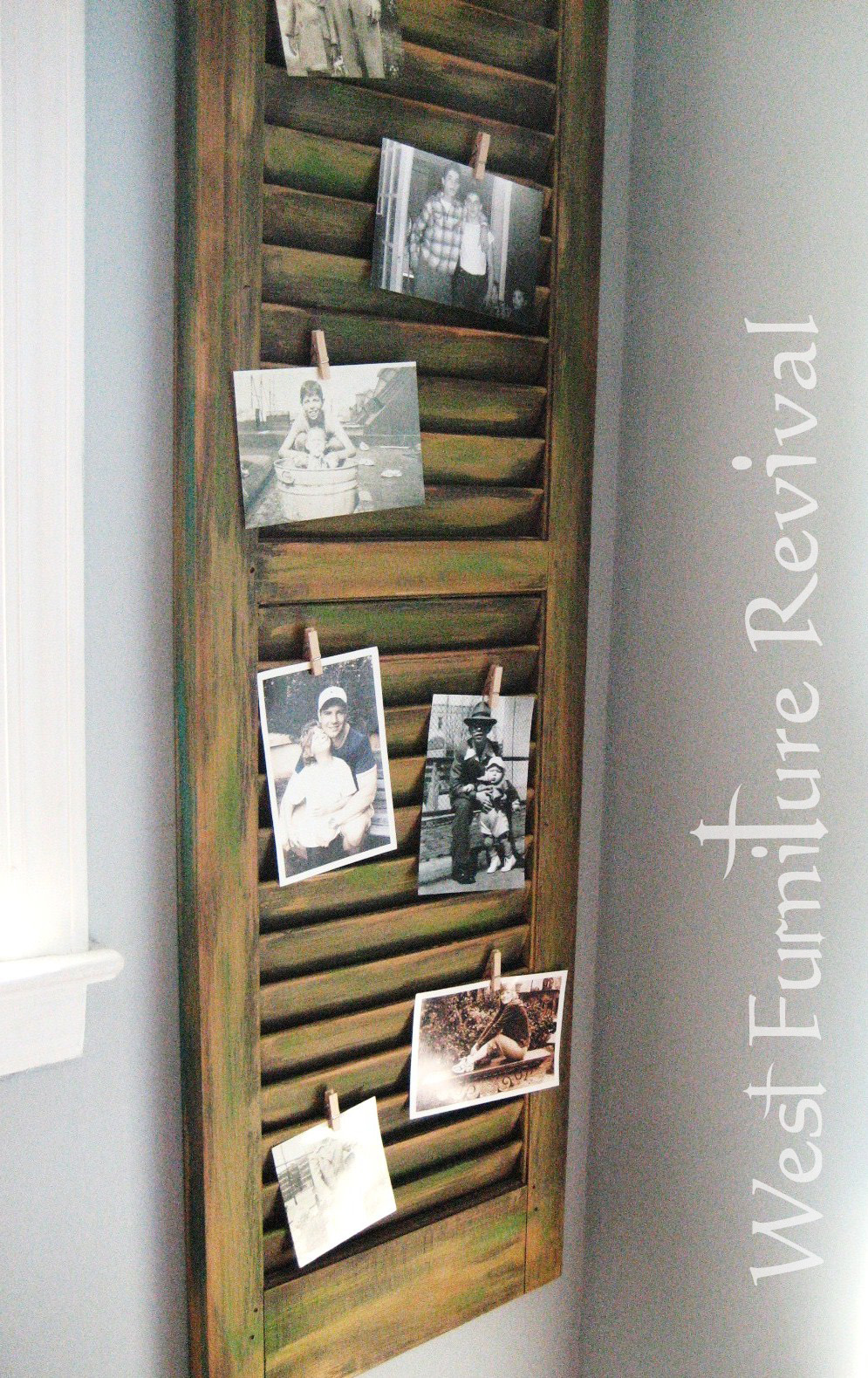 West Furniture Revival Shutter Repurposed Dry Brushed