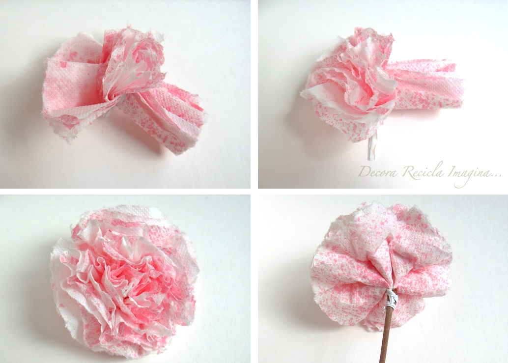 Decora Recicla Imagina Cmo hacer flores de papel How to Make