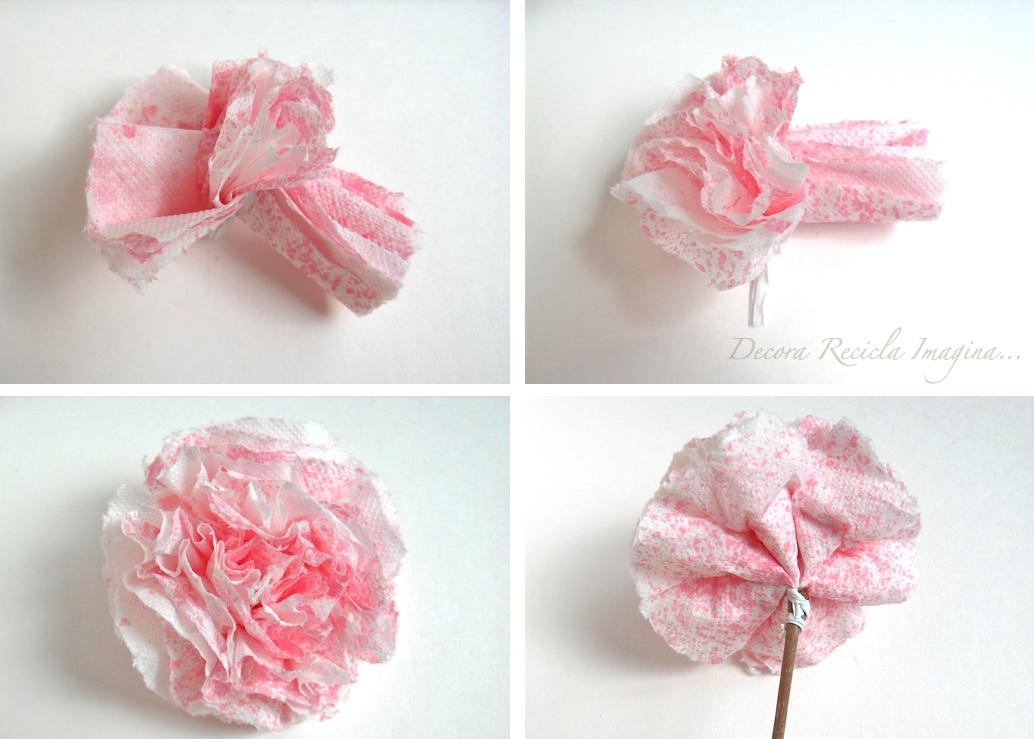 Decora Recicla Imagina Como Hacer Flores De Papel How To Make - Hacer-flores-con-papel
