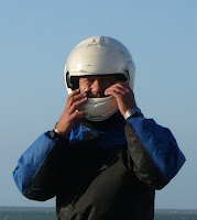 Pierre-Yves Gires pilote du char à voile F1439 de type Classe 2