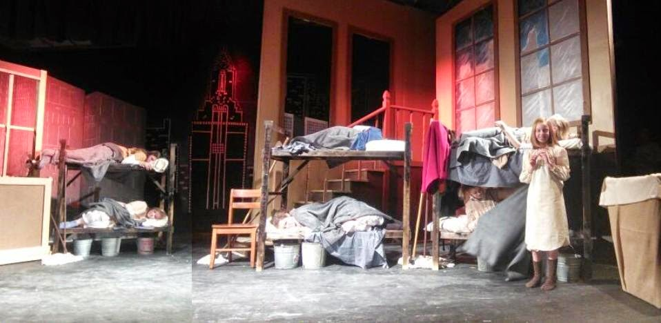 Annie set design orphanage scene