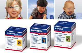 Coverlet parches para el tratamiento oclusivo ocular