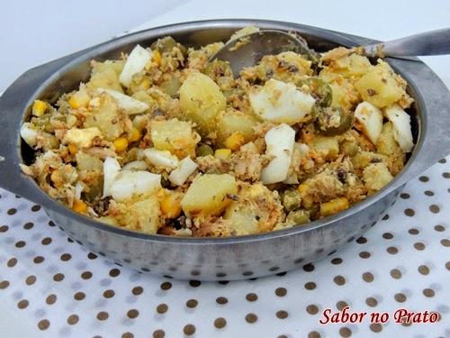 salada de sardinha muito fácil de fazer