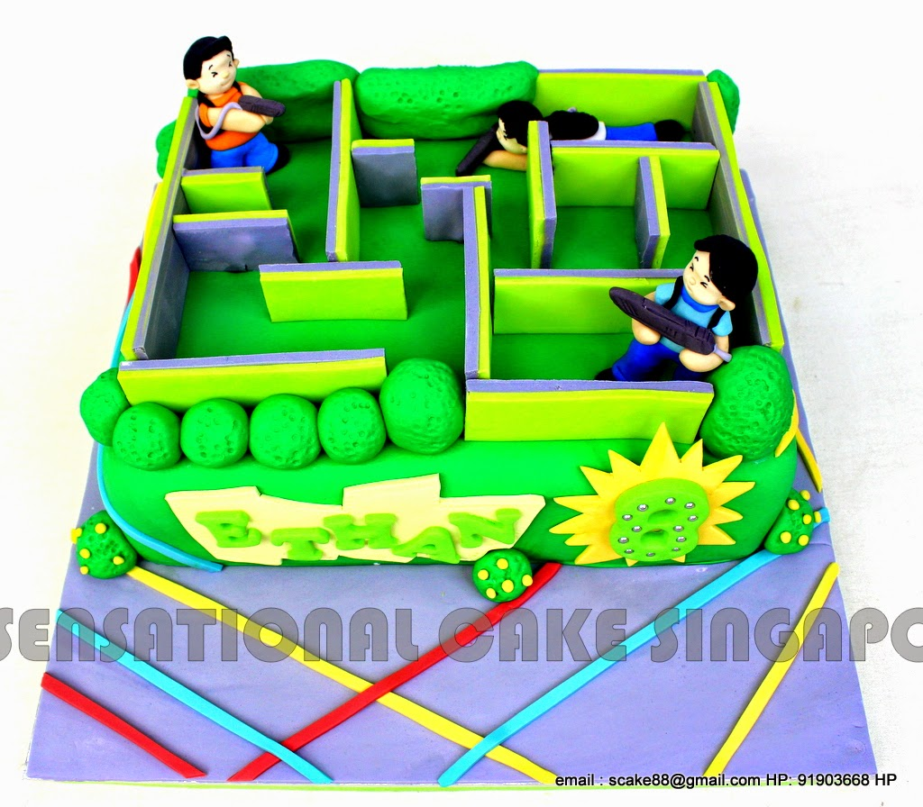 The Sensational Cakes Laser Tag Cake Singapore 3d Laser Tag A