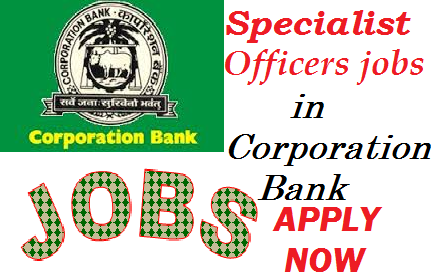 BANK JOB, Latest Jobs, Sarkari Jobs, Government jobs, Corporation Bank Jobs Vacancy  -Specialist Officers Recruitment 2013
