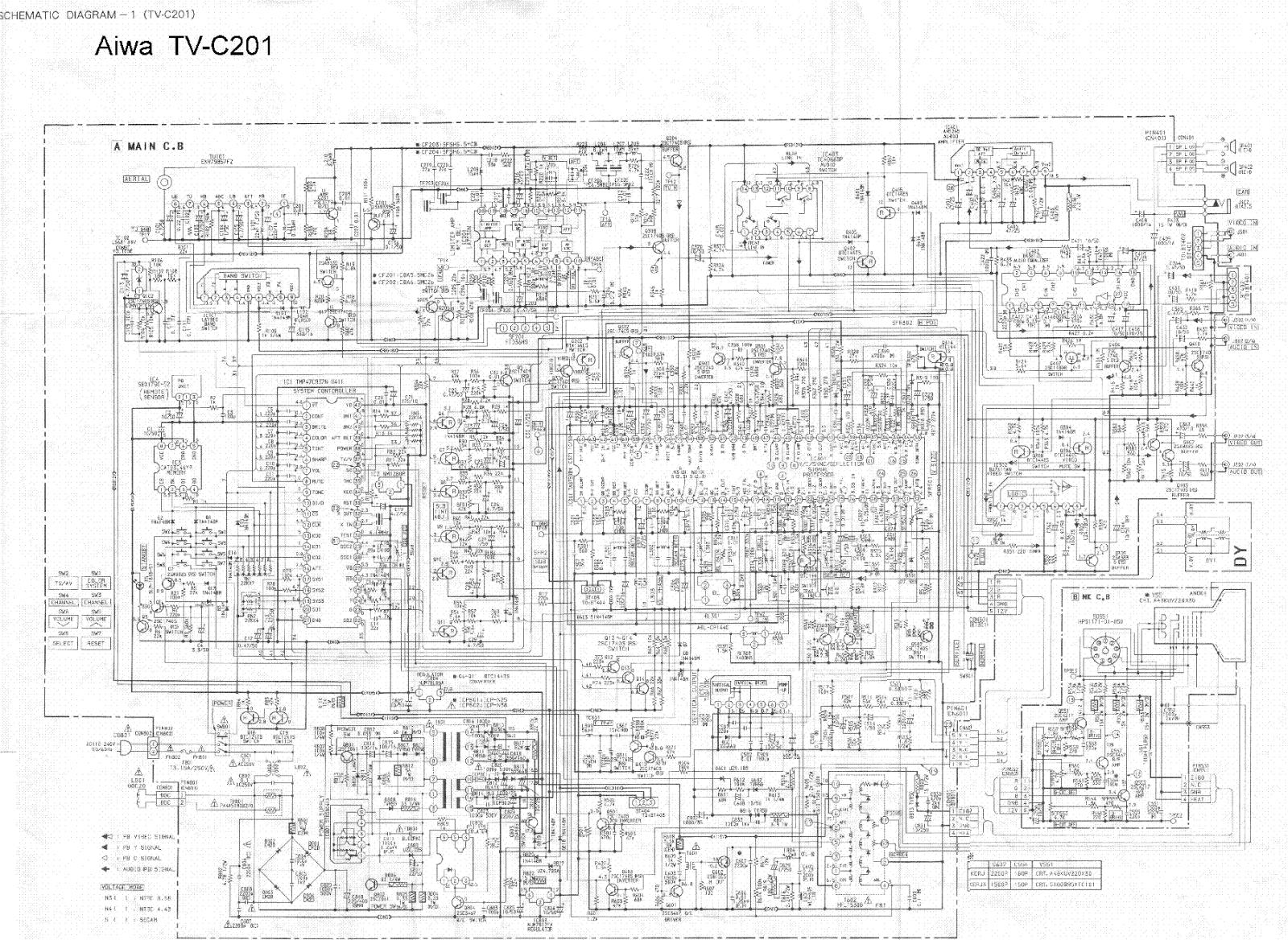 aiwa tv model c201 diagram lcd tv repairing rh hafeezelectronics blogspot com