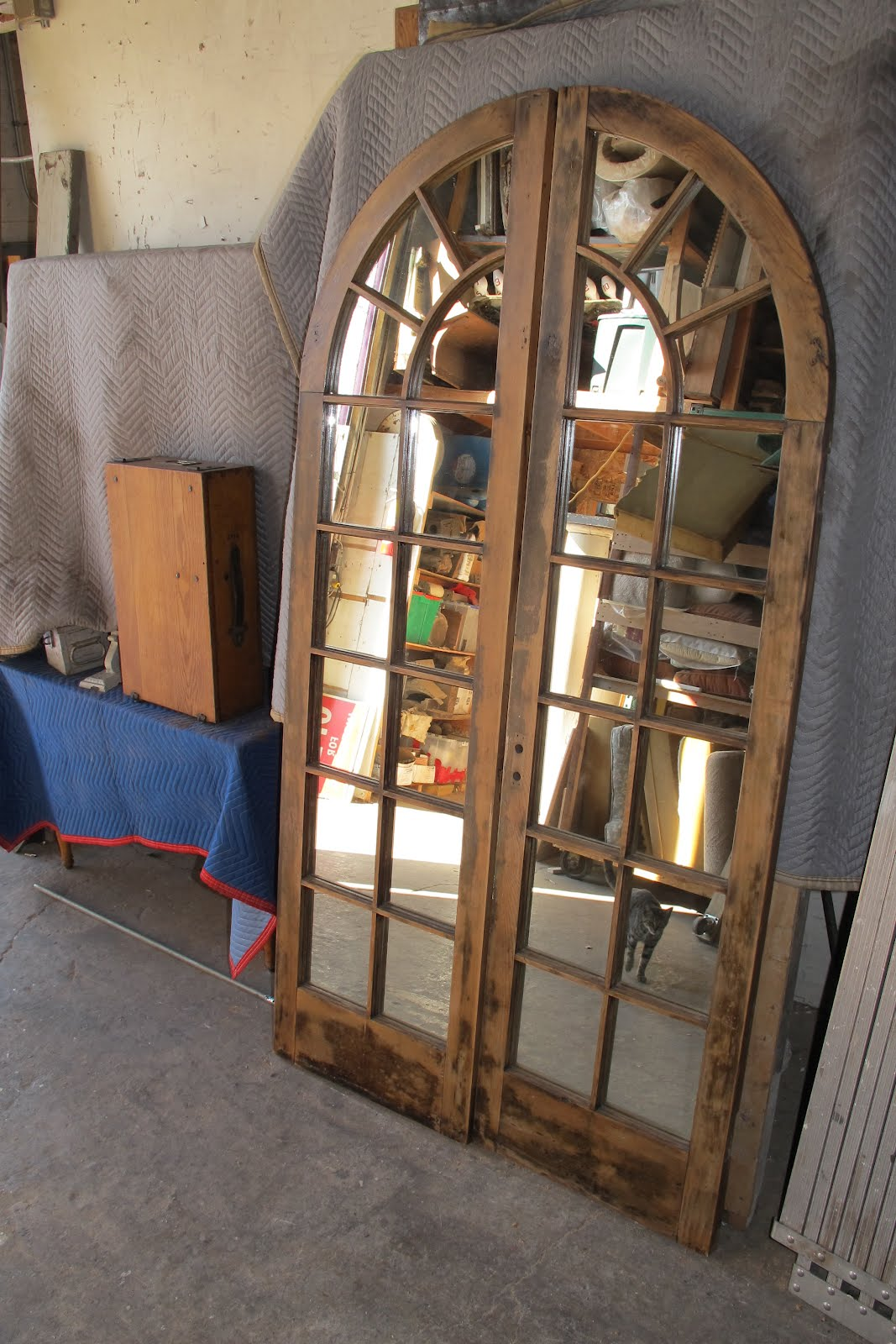 Pair of mirrors made from vintage french doors.