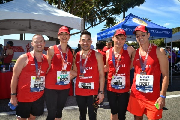 After super hot LA Marathon 2014
