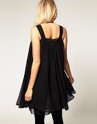 Modelo de vestido preto para grávida feito em duas camadas de musselina ou . (vestido preto gravida)