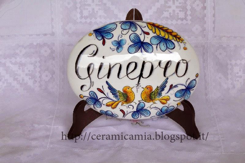 Ceramica che passione: targhette di ceramica dipinte per la porta
