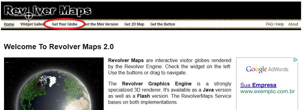 Colocando um mapa 3D no blogger