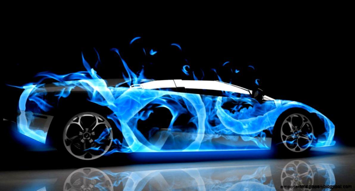 Fantasy Fire Cool Car Mega Wallpapers