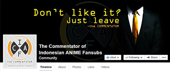 The Commentator of Indonesian ANIME Fansubs