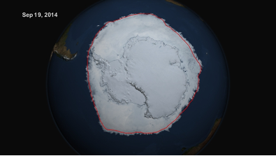 NOAA's satellite view of Antarctic 2014 Sea Ice record