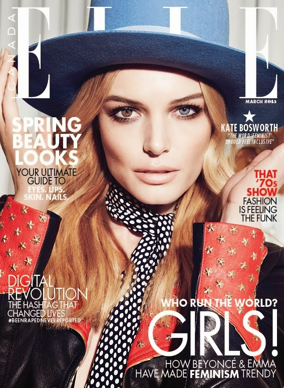 Actress, Singer, Model: Kate Bosworth for Elle Canada
