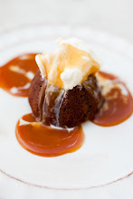 Double Chocolate Mini Cakelet with Salted Caramel Sauce