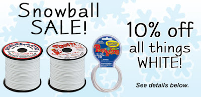 10% off all SNOWBALL Whites at the Rexlace Club!