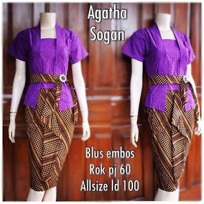 Kebaya Batik Sogan Agatha Db-5306