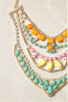 colorful necklace, fashion blog, bold as fashion
