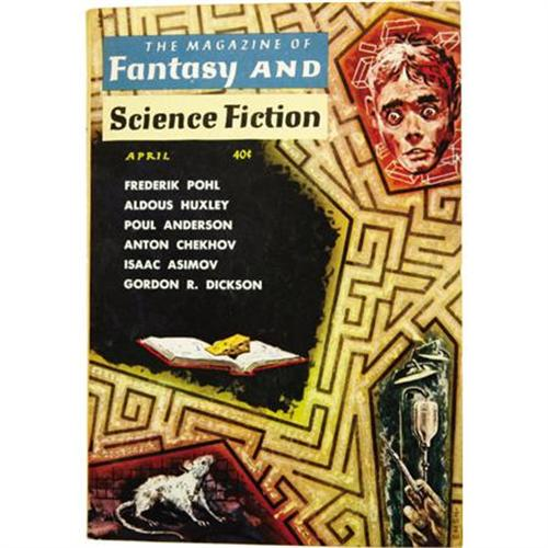 Cover of Magazine of Fantasy and Science Fiction, for April, 1959 (art by Ed Emshwiller)