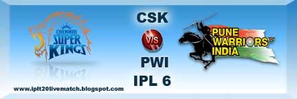 IPL 6 CSK vs PWI Full Highlight Match and Full Scorecards