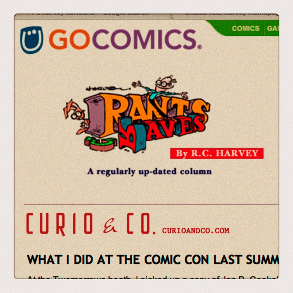 Go Comics Rants & Raves by RC Harvey reviews Curio & Co. (Curioandco.com)