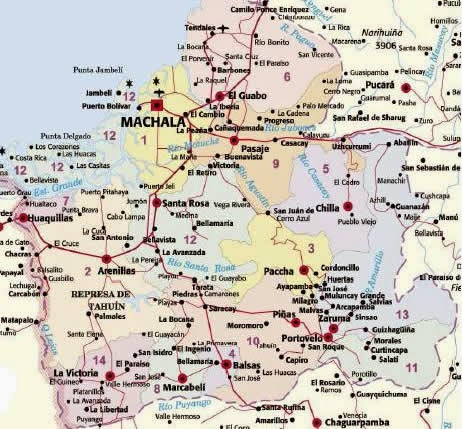 mapa machala