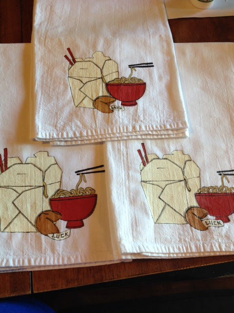 Asian Noodle Bowl Tea Towels