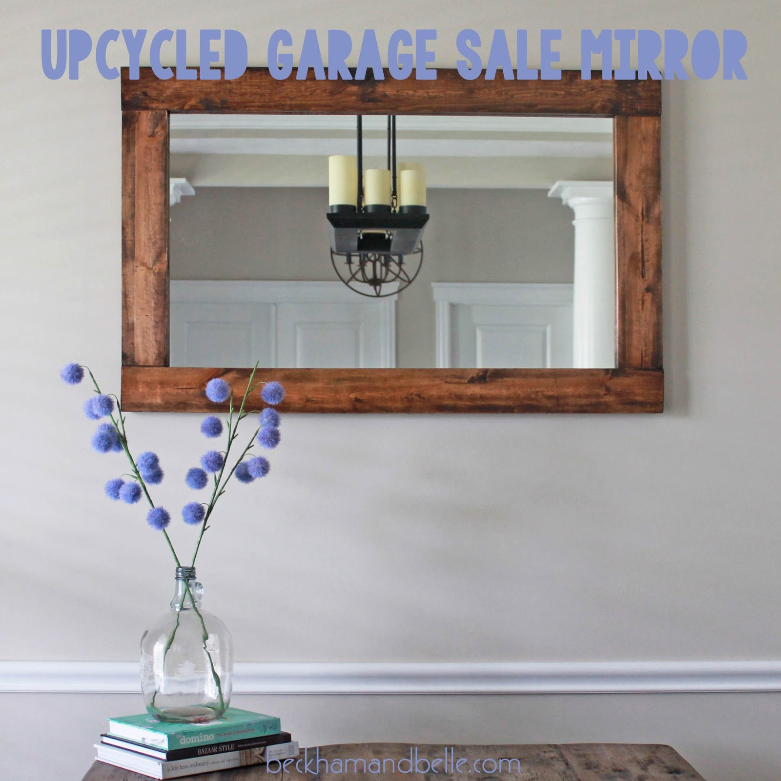 Repurposed Upcycled Garage Sale Wall Mirror Beckham Belle