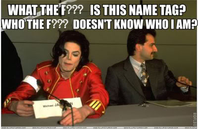 Michael Jackson Name Tag Meme