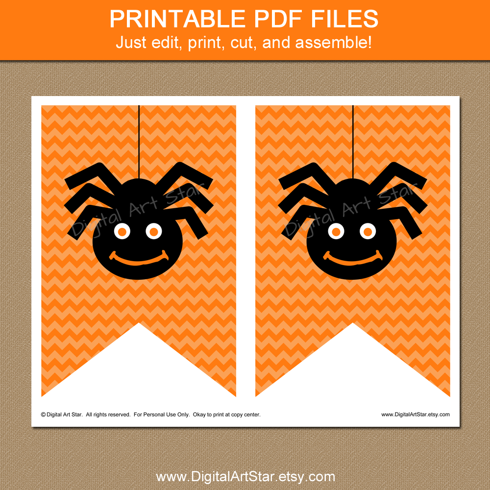 This is a photo of Hilaire Printable Halloween Banner