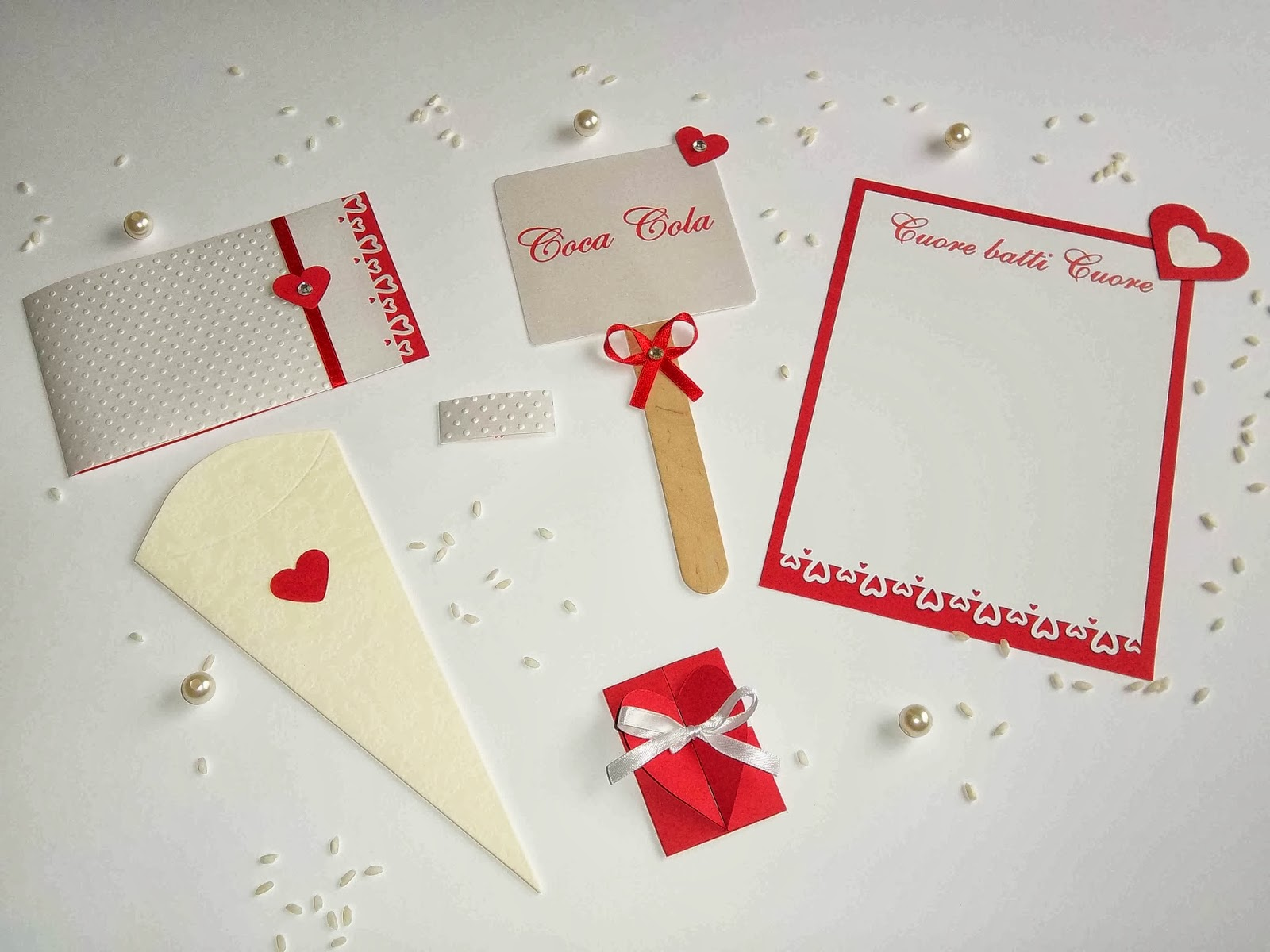 Matrimonio Tema Cuore : Sara crea set coordinato color rosso per matrimoni tema